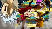 Erza Golpeando a Natsu y Haru