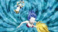 Lucy's summoning inside Juvia's body