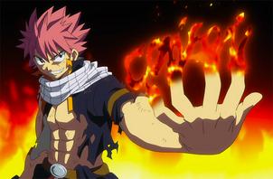Natsu desafia a Sting y Rogue