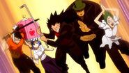Element 4 and Gajeel - Fairy Academy