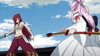 Erza faces the Historias