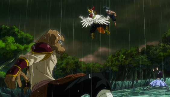 File:Bickslow and Elfman vs. Kawazu and Yomazu.jpg