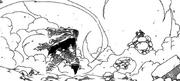 Bluenote derrotado por Natsu