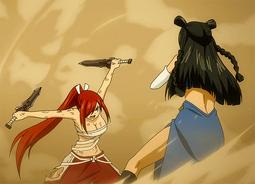 Erza vs Minerva