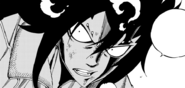 Gajeel after headbutting Bloodman