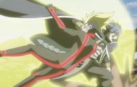 Jellal golpeando a Racer