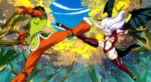 Mira fights Azuma