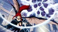 Erza destroys one of Nirvana s Lacrima