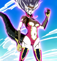 Mira prepares to fight Elfman and Evergreen