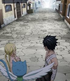 Natsu desaparece frente a sus amigos