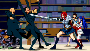 Team Erza vs. Jiggly Butt Gang