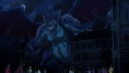 Levia attacking the city