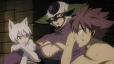 Kyouka Atrapada por Natsu y Lisanna