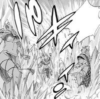 Gray freezes Briar's clones