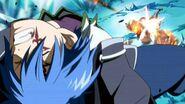 Natsu attacks Jellal