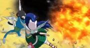 Wendy charle happy y lily ven a zancrow contra natsu