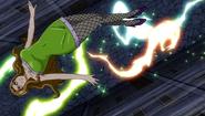Evergreen fights the lightning