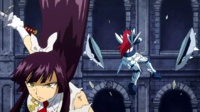 Erza's Adamantine Armor destroyed by Kagura