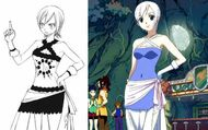 Lisanna ropa diferente en manga y anime