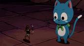 Tiny Sagittarius tries to help Lucy