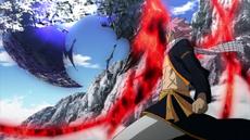 Natsu incinera la magia de Zeref