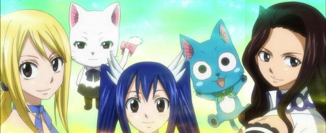 File:Lucy heartfilia charle happy wendy marvell cana alberona fairy tail anime.jpg