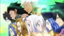Levy mcgarden pantherlily gajeel redfox evergreen elfman lisanna mirejane juvia loxar gray fullbustergroup team everyone fairy tail guild anime