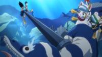 Gajeel Attacks the Fish 1