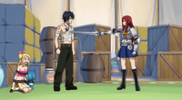 Gray Stands Up to Erza