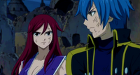 Jellal and Erza after battle