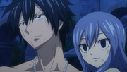Gray and Juvia Happy to See Sting and Lector's Reunion