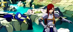 Juvia and Lisanna Defeated by Erza