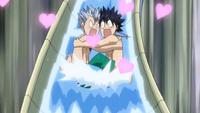 Gray and Lyon Hugging
