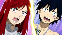 Episode 86 - Erza and Gray seeing two Gajeels