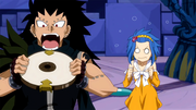 Gajeel wanna eats the clock part
