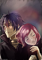 Starry Night with Mystogan and Erza