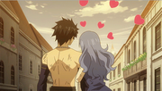 Juvia Refuses to Let Go Gray's Hand