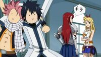 When Erza is looking