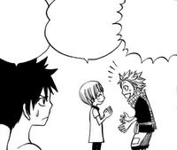Lisanna helps Natsu