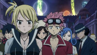 Edolas Fairy Tail Watching the Earth Land Fairy Tail Leave