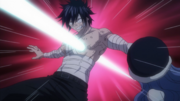 Gray Pushes Juvia Out of the Way