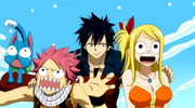 Gray found Natsu and Lucy