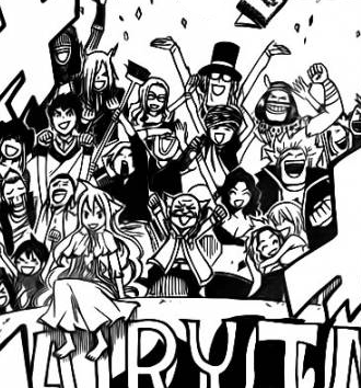 Fairy Tail Celebrating Their Victory