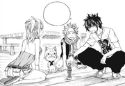 Gray-Tries-to-Cheer-Up-Natsu,-Happy,-and-Lucy