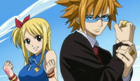 Loke and Lucy ready to fight