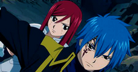 Jellal protecting Erza