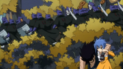 Levy Hiding from the Enemy with Gajeel