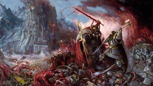 Humans-Vs-Demons-Battlescene-Desktop-Wallpaper