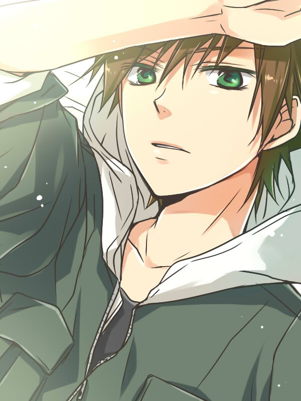 Anime Boy With Dark Brown Hair And Green Eyes The Best Undercut Ponytail