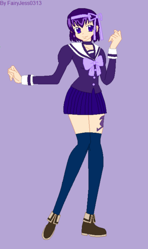 Yuri Violetfield with short hair